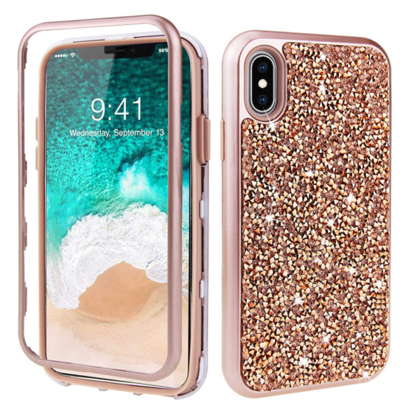 iPhone - RoseGold Bling Case