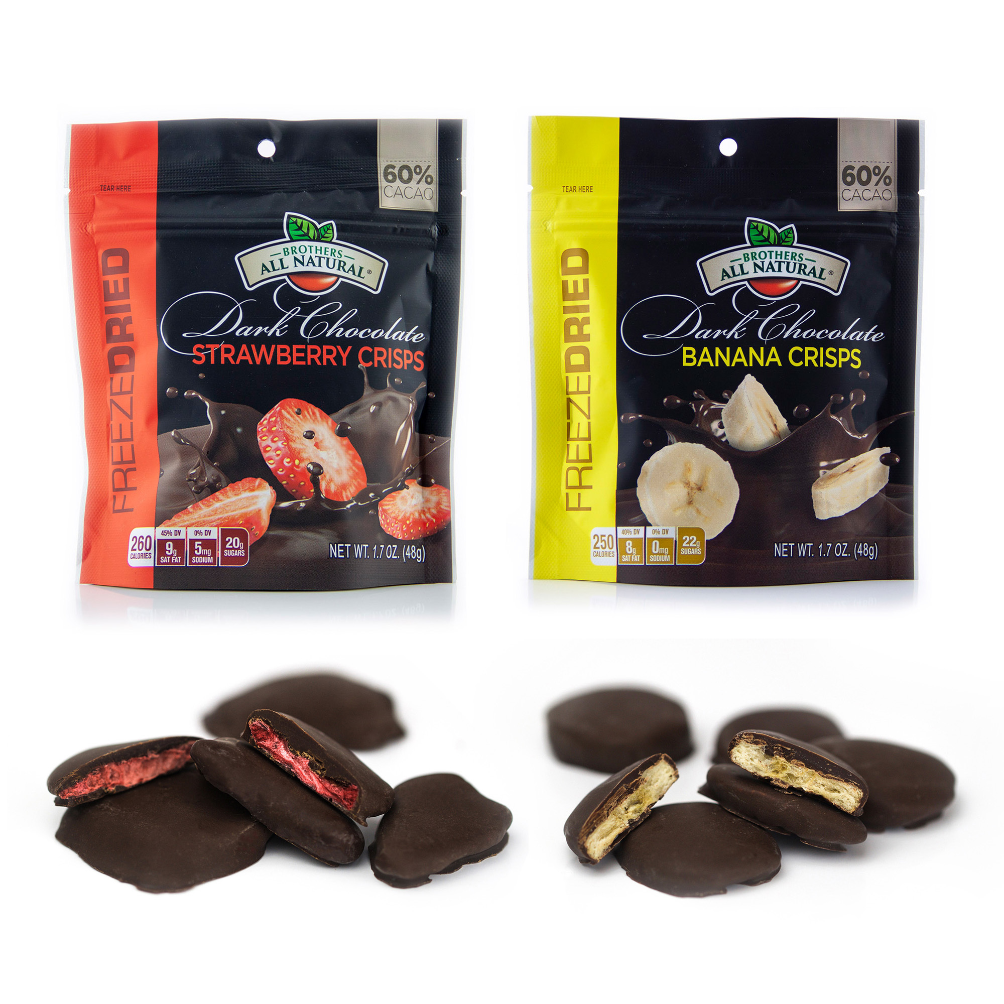 Brothers All Natural Chocolate Covered Freeze-dried Fruit